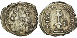 Ancient Coins - Coin, Heraclius, with Heraclius Constantine, Hexagram, 632-635, Constantinople
