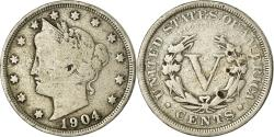 Us Coins - Coin, United States, Liberty Nickel, 5 Cents, 1904, U.S. Mint, Philadelphia