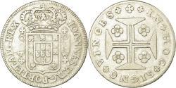 World Coins - Coin, Portugal, Joao V, 400 Reis, Cruzado Novo, 400 = 480 Reis, 1750, Lisbon