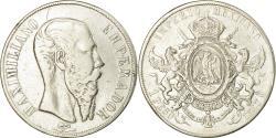World Coins - Coin, Mexico, Maximilian, Peso, 1867, Mexico City, , Silver, KM:388.1