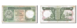 World Coins - Hong Kong, 10 Dollars, 1990, KM #191c, VF(20-25), CZ059921