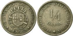 World Coins - Coin, INDIA-PORTUGUESE, 1/4 Rupia, 1952, , Copper-nickel, KM:25