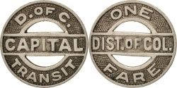 Us Coins - United States, Token, District of Columbia Transit System