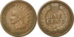 Us Coins - Coin, United States, Indian Head Cent, Cent, 1884, U.S. Mint, Philadelphia