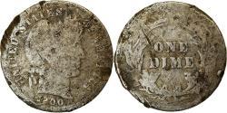 Us Coins - Coin, United States, Barber Dime, Dime, 1900, U.S. Mint, Philadelphia,