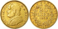 World Coins - Coin, ITALIAN STATES, PAPAL STATES, Pius IX, 20 Lire, 1868, Roma,