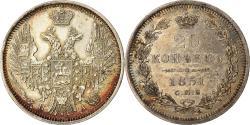 World Coins - Coin, Russia, Nicholas I, 20 Kopeks, 1851, Saint-Petersburg, , Silver