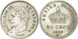 World Coins - Coin, France, Napoleon III, Napoléon III, 20 Centimes, 1867, Strasbourg