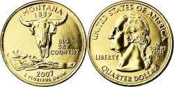 Us Coins - Coin, United States, Montana, Quarter, 2007, U.S. Mint, Philadelphia, golden