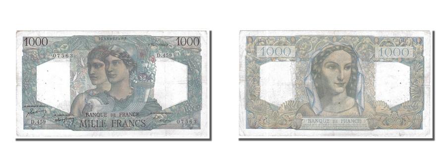 World Coins - France, 1000 Francs, 1 000 F 1945-1950 ''Minerve et Hercule'', 1948, KM #130b,..