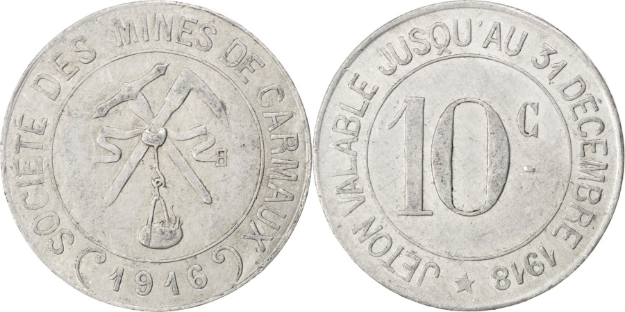 World Coins - France, 10 Centimes, 1916, , Aluminium, Elie #10.2, 2.01