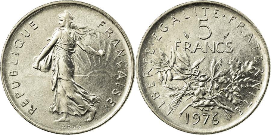 World Coins - Coin, France, Semeuse, 5 Francs, 1976, Paris, , Nickel Clad