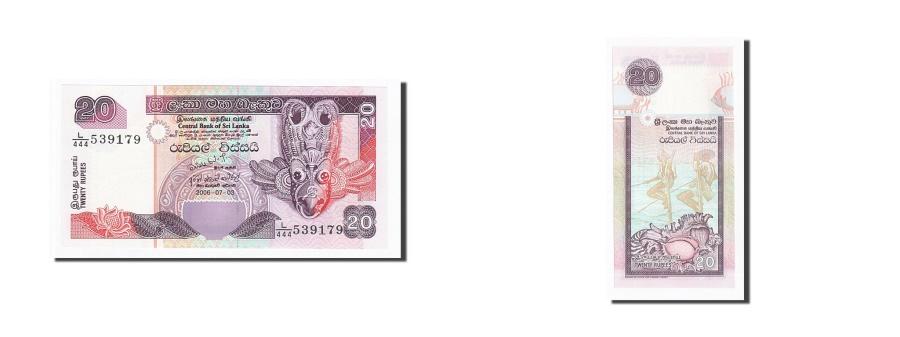 World Coins - Sri Lanka, 20 Rupees, 2006, 2006-03-07, KM:116e, UNC(65-70)