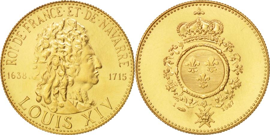 World Coins - France, Medal, Les rois de France, Louis XIV, Louis XIV, History,
