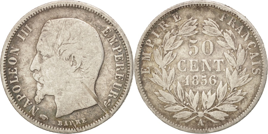 World Coins - FRANCE, Napoléon III, 20 Centimes, 1856, Paris, KM #778.1, , Silver, 15