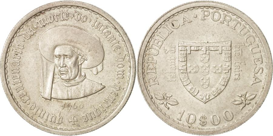 World Coins - Portugal, 10 Escudos, 1960, Lisbon, , Silver, KM:588