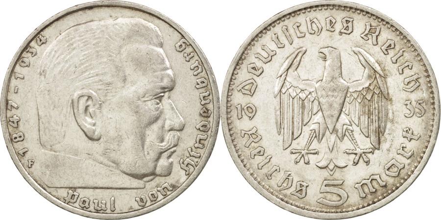 World Coins - GERMANY, THIRD REICH, 5 Reichsmark, 1935, Stuttgart, , Silver, KM:86