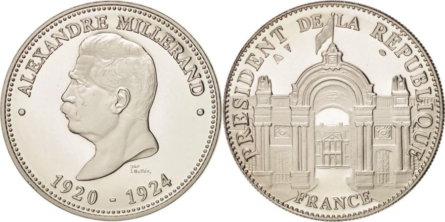World Coins - France, Les Présidents de la République, Alexandre Millerand, History, Medal