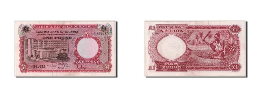 World Coins - Nigeria, 1 Pound, KM #8, UNC(60-62), C/7 541432