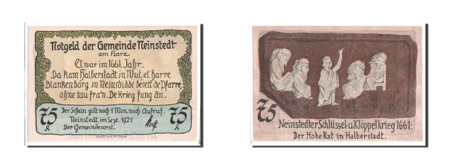 World Coins - Germany, Neinstedt, 75 Pfennig, 1921, 1921-09-01, UNC(65-70), Mehl #933.4