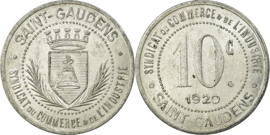 World Coins - Coin, France, Syndicat du Commerce & de l'Industrie, Saint-Gaudens, 10 Centimes