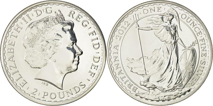 World Coins - Great Britain, Elizabeth II, 2 Pounds, 2012, British Royal Mint, MS(65-70)