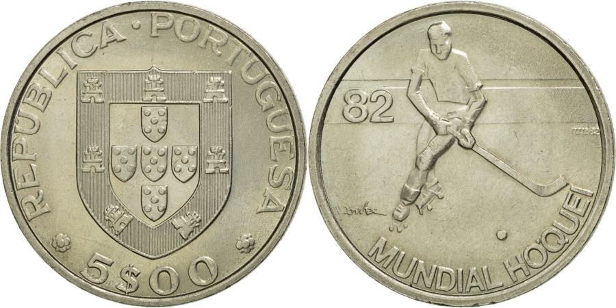 World Coins - Coin, Portugal, 5 Escudos, Undated (1983), , Copper-nickel, KM:615