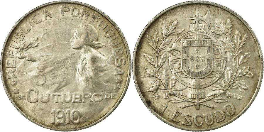 World Coins - Coin, Portugal, Escudo, 1910, , Silver, KM:560