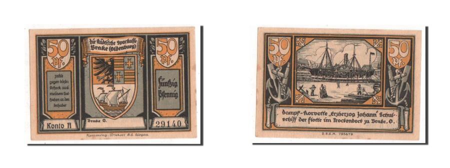 World Coins - Germany, Oldenburg, 50 Pfennig, 1922, UNC(63), 29140, Mehl #149.1a