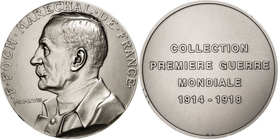 World Coins - FRANCE, Politics, Society, War, French Fifth Republic, Medal, ,...