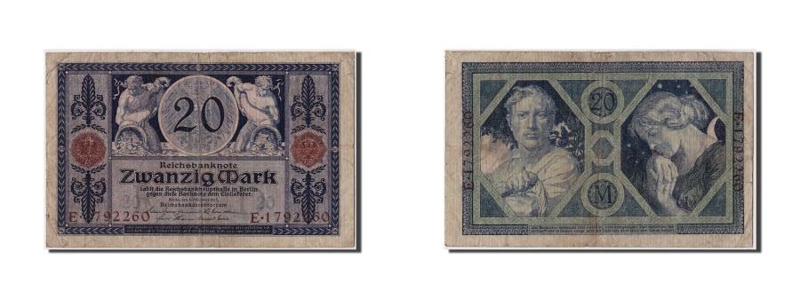 World Coins - Germany, 20 Mark, 1915, KM:63, 1915-11-04, VG(8-10), E.1792260