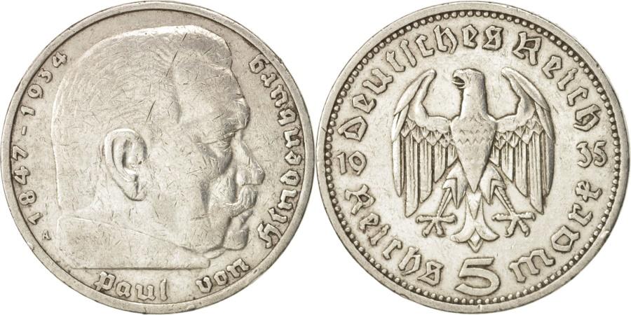 World Coins - GERMANY, THIRD REICH, 5 Reichsmark, 1935, Berlin, , Silver, KM:86