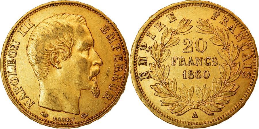 World Coins - Coin, France, Napoleon III, Napoléon III, 20 Francs, 1860/50, Paris,