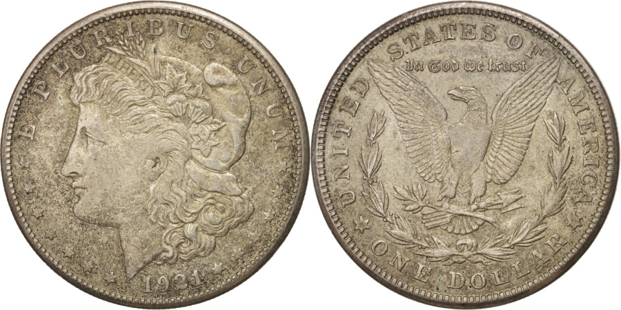 US Coins - United States, Morgan Dollar, Dollar, 1921, U.S. Mint, San Francisco