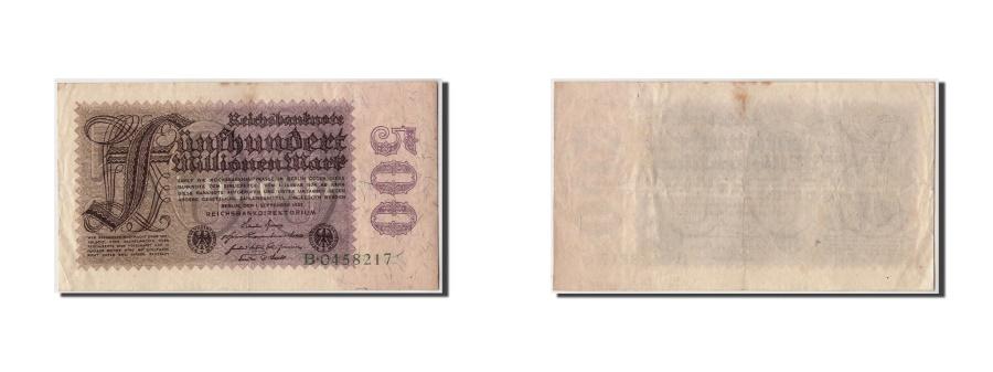 World Coins - Germany, 500 Millionen Mark, 1923, KM:110a, 1923-09-01, VF(30-35)