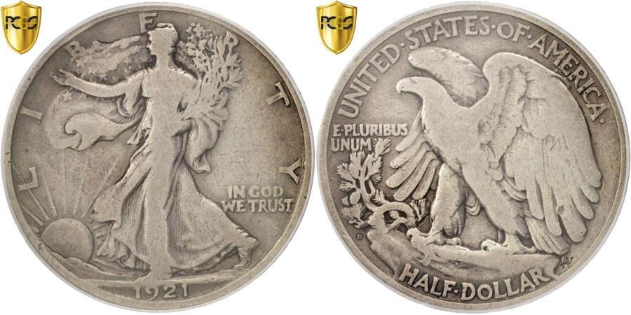US Coins - Coin, United States, Walking Liberty Half Dollar, Half Dollar, 1921, U.S. Mint