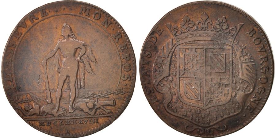 World Coins - France, Token, Etats de Bourgogne, 1688, , Copper, Feuardent:9821