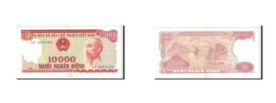 World Coins - Vietnam, 10,000 Dong, 1993, KM:115a, EF(40-45)
