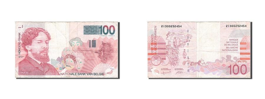World Coins - Belgium, 100 Francs, 1995-2001, KM:147, 1995, VF(20-25), 21300292454