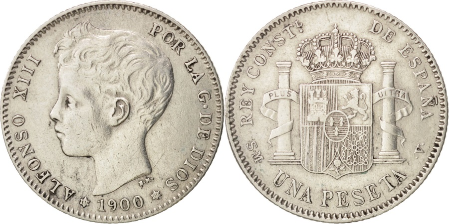 World Coins - Spain, Alfonso XIII, Peseta, 1900, , Silver, KM:706