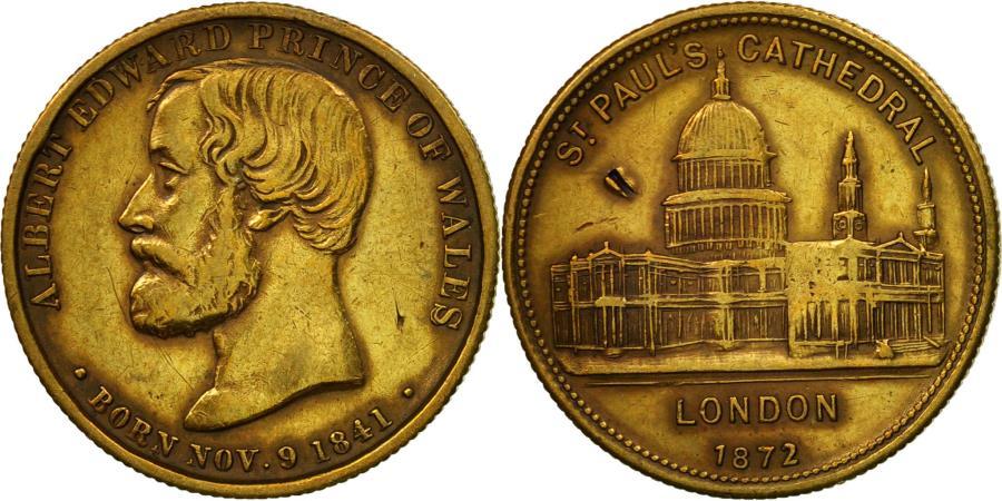 World Coins - United Kingdom , Token, Alfred Edward, Cathédrale Saint-Paul, Londres, 1872