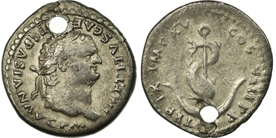 Ancient Coins - Coin, Titus, Denarius, AU(50-53), Silver, Cohen:308
