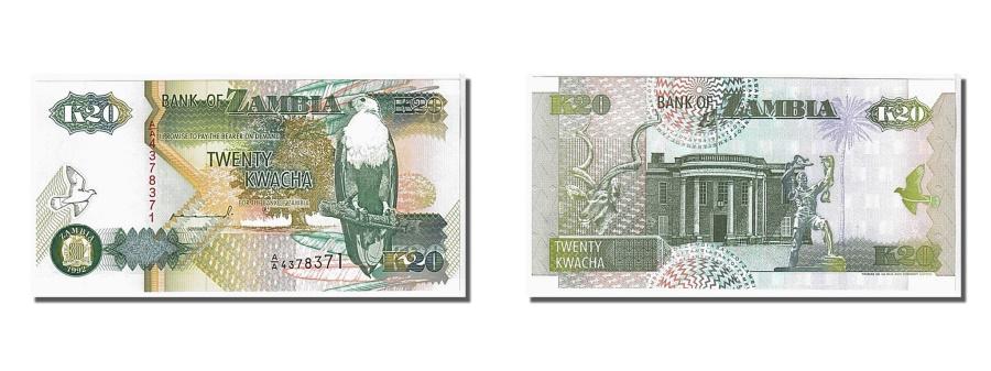 World Coins - Zambia, 20 Kwacha, 1992, KM #36a, UNC(65-70), 4378371