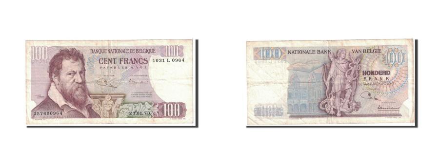 World Coins - Belgium, 100 Francs, 1970, KM:134b, 1970-01-23, EF(40-45)