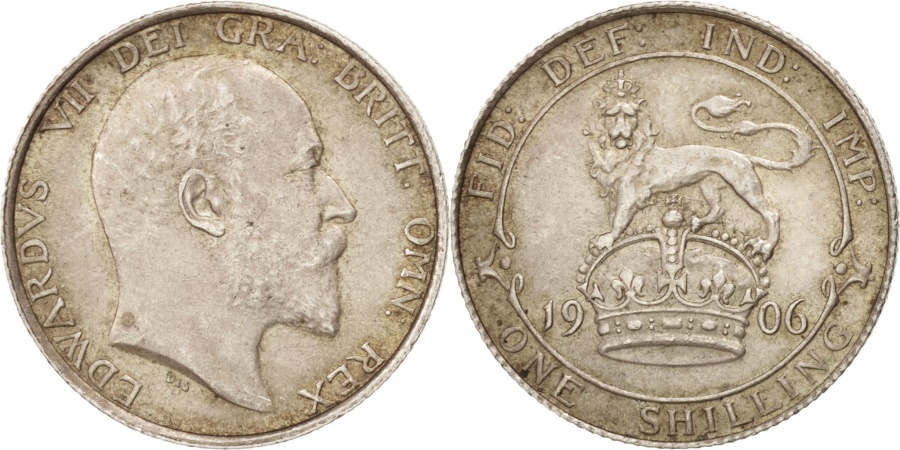 World Coins - Great Britain, Edward VII, Shilling, 1906, , Silver