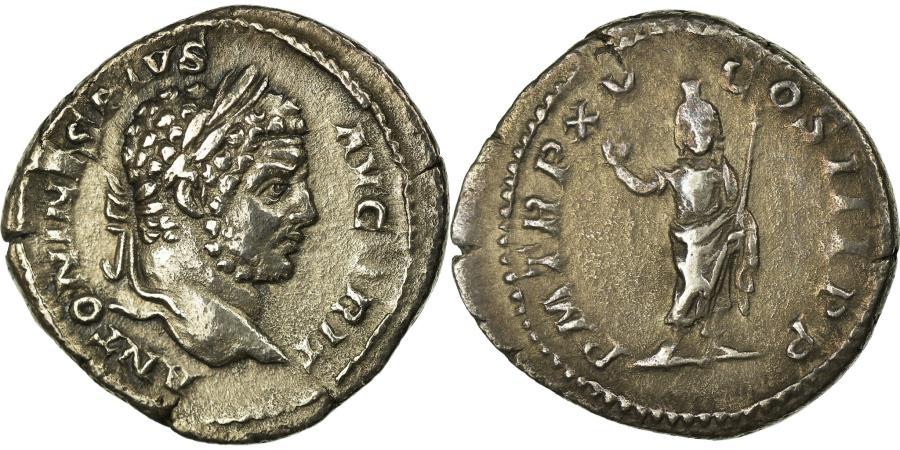Ancient Coins - Coin, Caracalla, Denarius, Rome, EF(40-45), Silver, RIC:193var