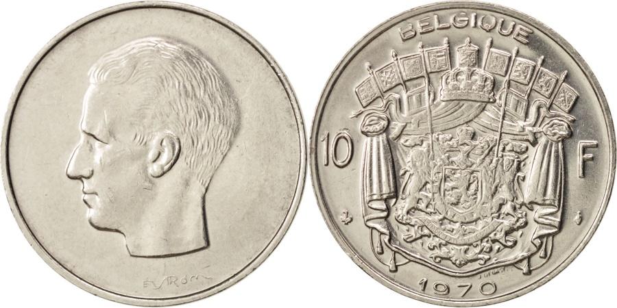 World Coins - Belgium, 10 Francs, 10 Frank, 1970, Brussels, , Nickel, KM:155.1