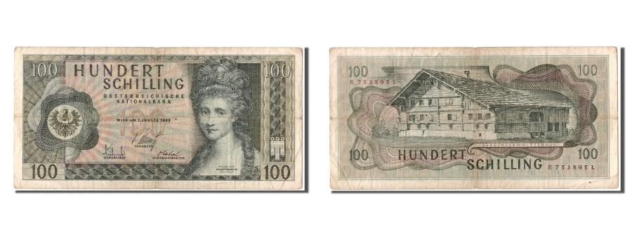 World Coins - Austria, 100 Schilling, 1969, KM #145a, 1969-01-02, VF(20-25), E753895L