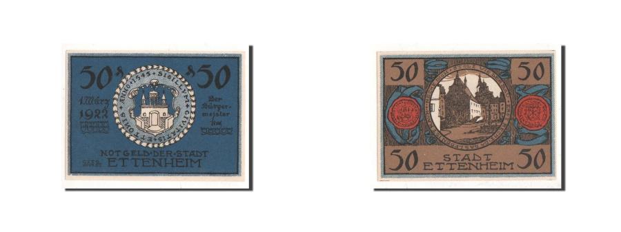World Coins - Germany, Ettenheim, 50 Pfennig, paysage 2, 1922-03-01, UNC(65-70), Mehl:354
