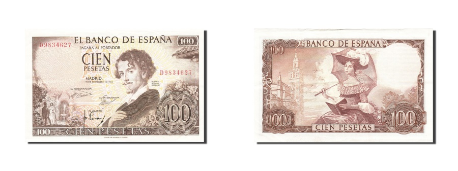 World Coins - Spain, 100 Pesetas, 1965, KM:150, 1965-11-19, EF(40-45)